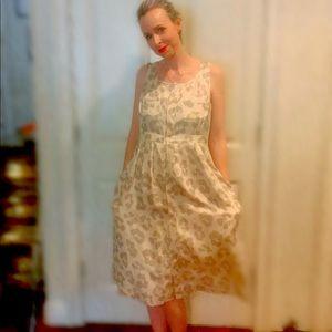 Elegant J Crew silk leopard print dress💐